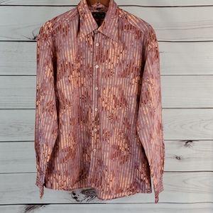 Ben Sherman • XL shirt button up striped Hawaiian